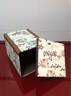Caja de café cartonnage