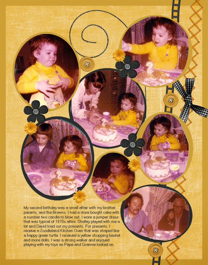 1970s Two-Page Birthday Layout
