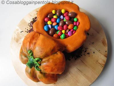 halloween torta cake ucca pumpikin dolcetto scherzetto ricetta cosa blogga in pentolacosabloggainpentola