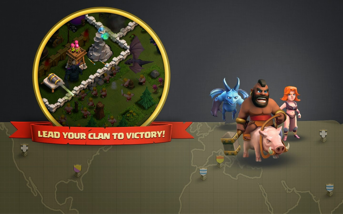 Minion, Hog Rider and Valkyrie – Clash of Clans Dark Elixir Troops HD Wallpaper