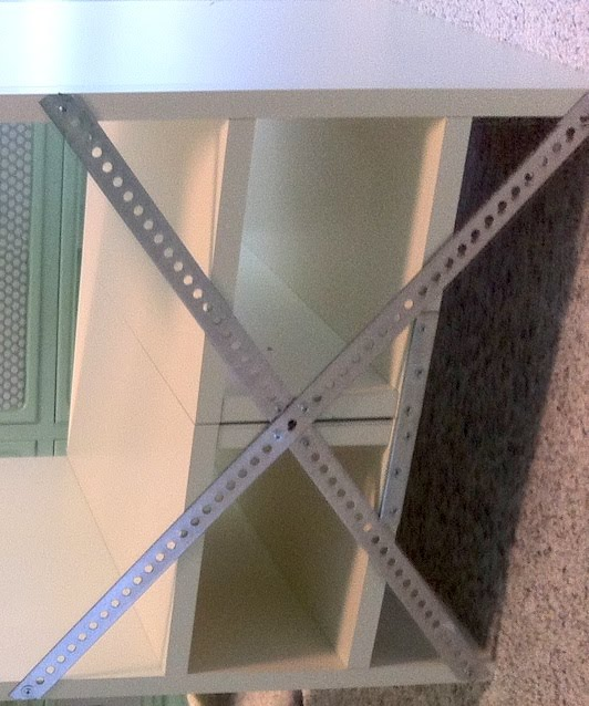 Ikea Hack Reverse Painted Glass Brick Room Divider