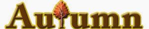 秋イラストAutumnの飾り文字
