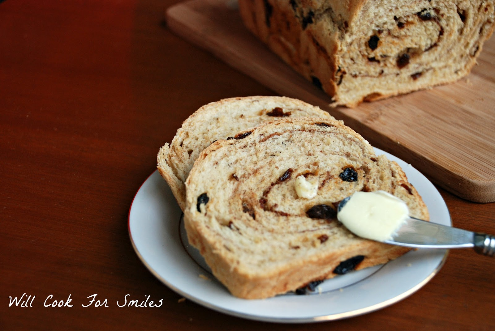 Cinnamon Raisin Swirl Bread - Will Cook For Smiles