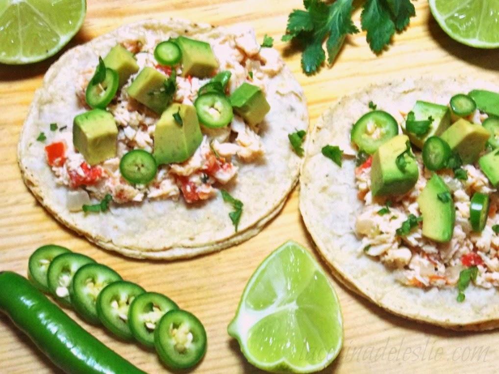 Tacos de Pollo - lacocinadeleslie.com