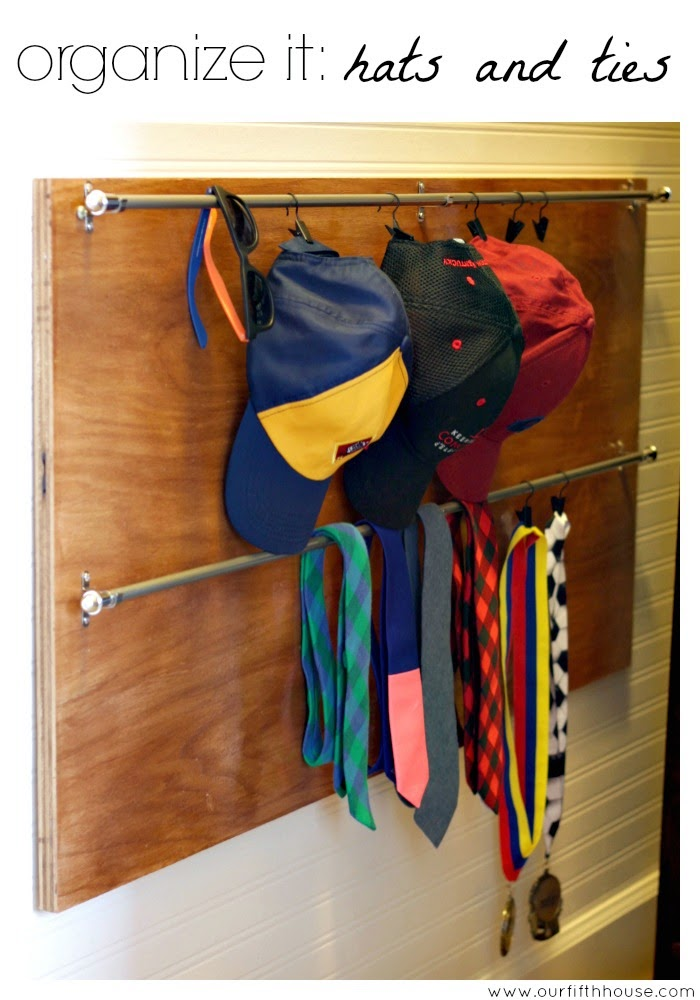 organize it: baseball hats and tie storage
