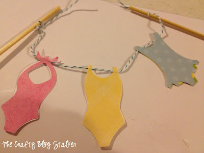 Swimsuit Cake Topper Banner