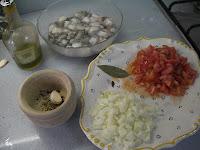 Ingredientes para el pulpo en salsa