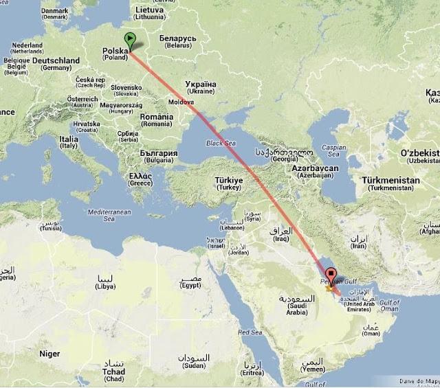"""Test nowej drogi do """"domu"""" czyli pewnie polecę przez Bahrajn"""
