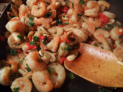 Shrimp Scampi in Skillet