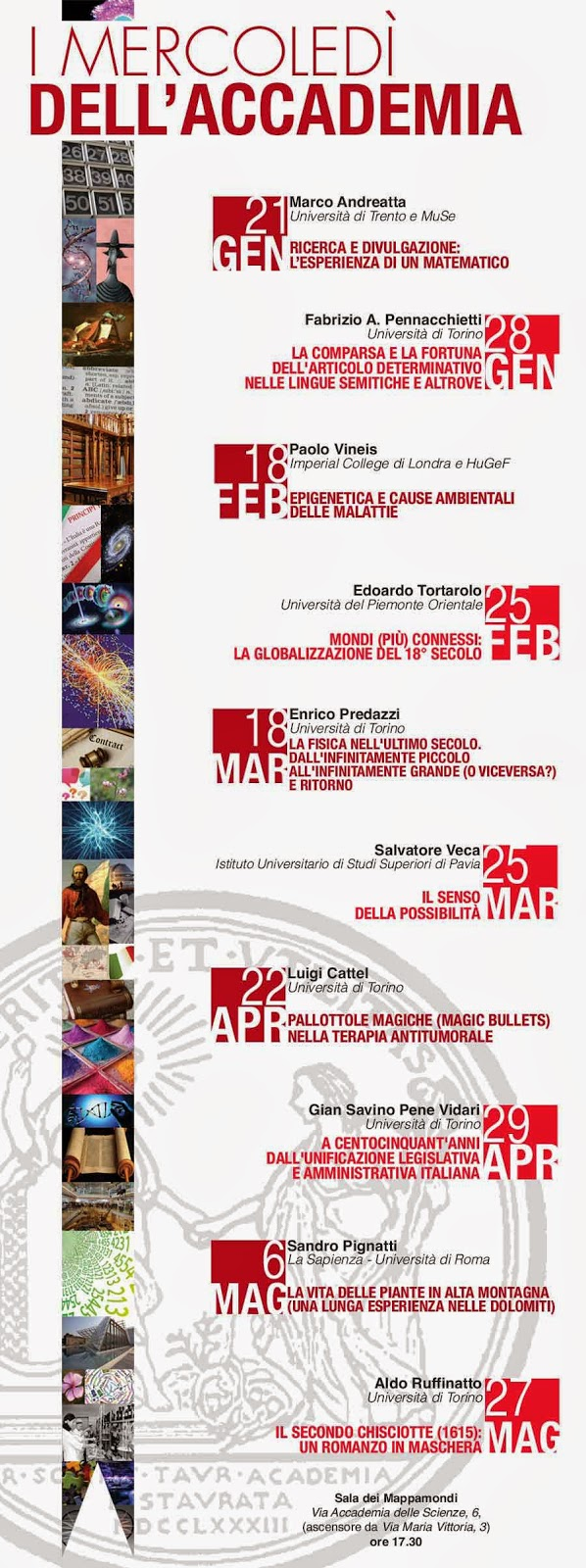 mercoledì dell'Accademia delle Scienze di Torino