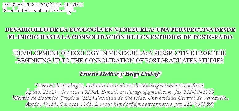 De la Ecología en Venezuela
