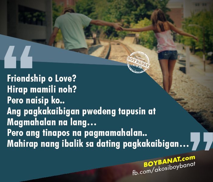 Tagalog Quotes About Love And Friendship Beauteous Falling In Love With A Friend Who Can't Love You Back  Boy Banat