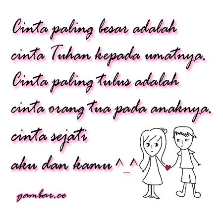 Cinta sejati aku dan kamu