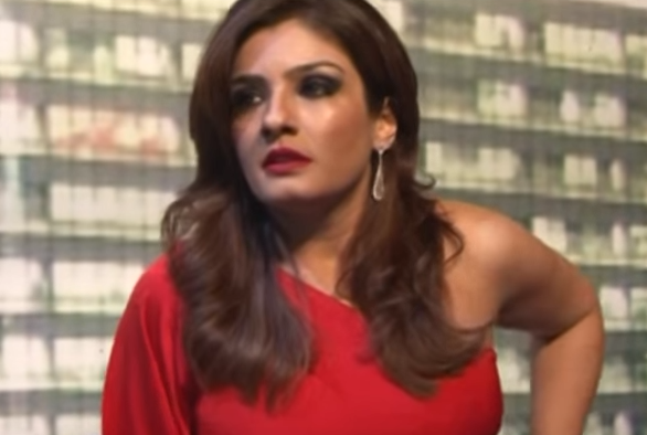 A viral video which shows Bollywood star Raveena Tandon abusing media has turned out to be nearly fake – a clever editing job.  In the short clip Raveena angrily says in Hindi that the 'freedom of the press' has gone too far; it is being misused to hurl abuses at people, she adds.  The video shared by Twitter user @GnomeBaba quickly went viral.