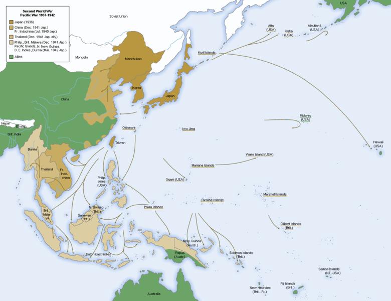 Japanese Iinvasion Map