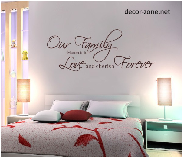 Wall decor ideas for the master bedroom Wall stickers for bedrooms