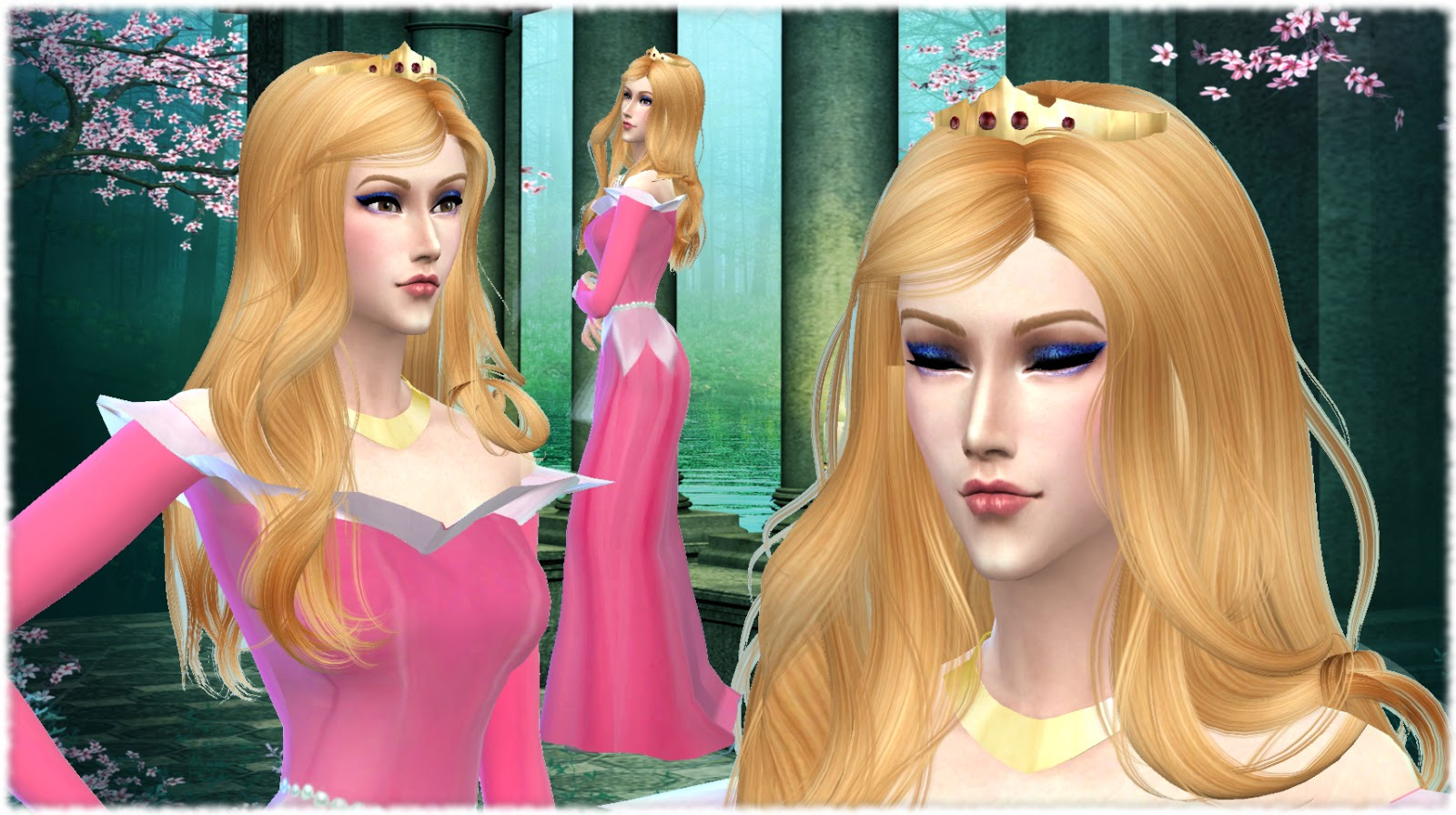 Mythical Dreams Sims 4: Sleeping Beauty Inspired Gown and