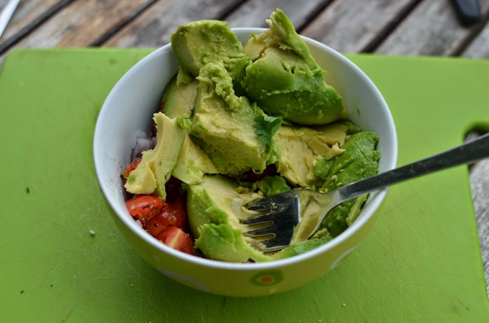 Recipe of Homemade Guacamole with pine nuts