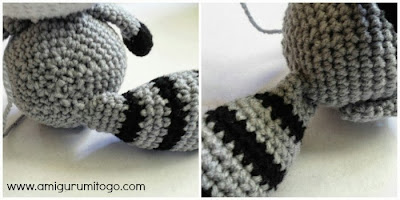crochet raccoon tail