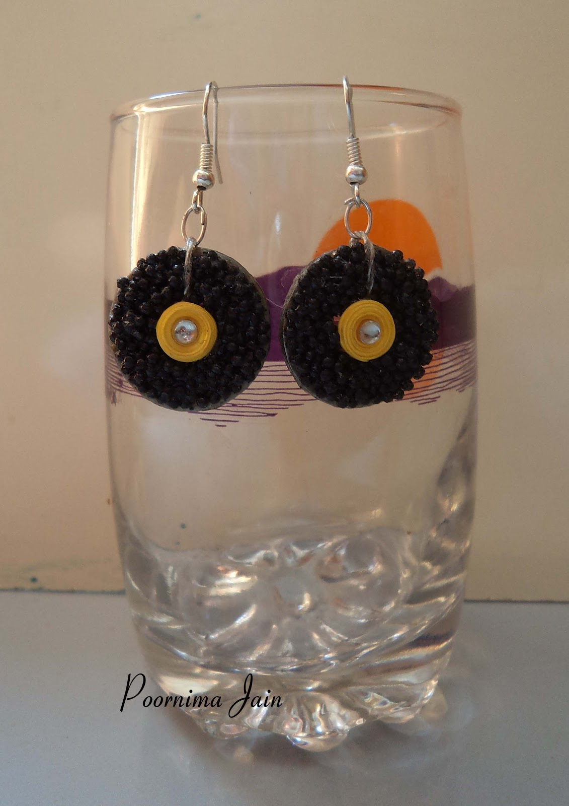 Recycled paper earring cards