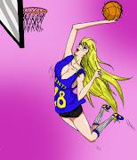 Hoy os traemos a una chica muy deportista que lleva la camiseta oficial del . basket yeah