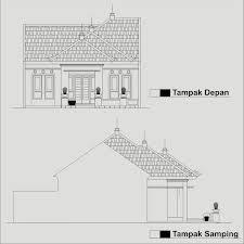 Rumah minimalis denah