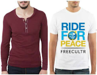 Buy Casual Style Fix Men's Tees & Polos at Flat 70% off & Extra 30% Mobikwik Discount: Buytoearn