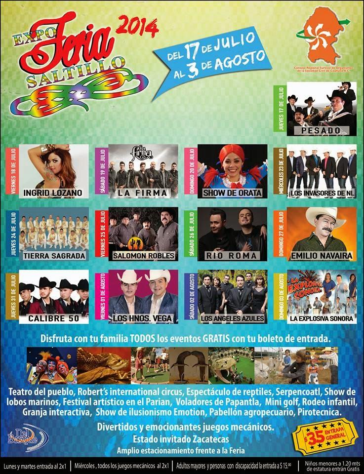 Programa Feria Saltillo 2014