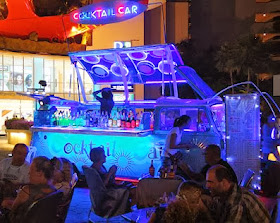 Thailand nightlife at Pattaya Beach Road