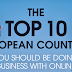 Top 10 Internet countries in Europe