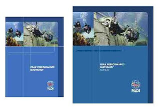 PADI Peak Performance Buoyancy Manual and DVD crewpak part number 60177