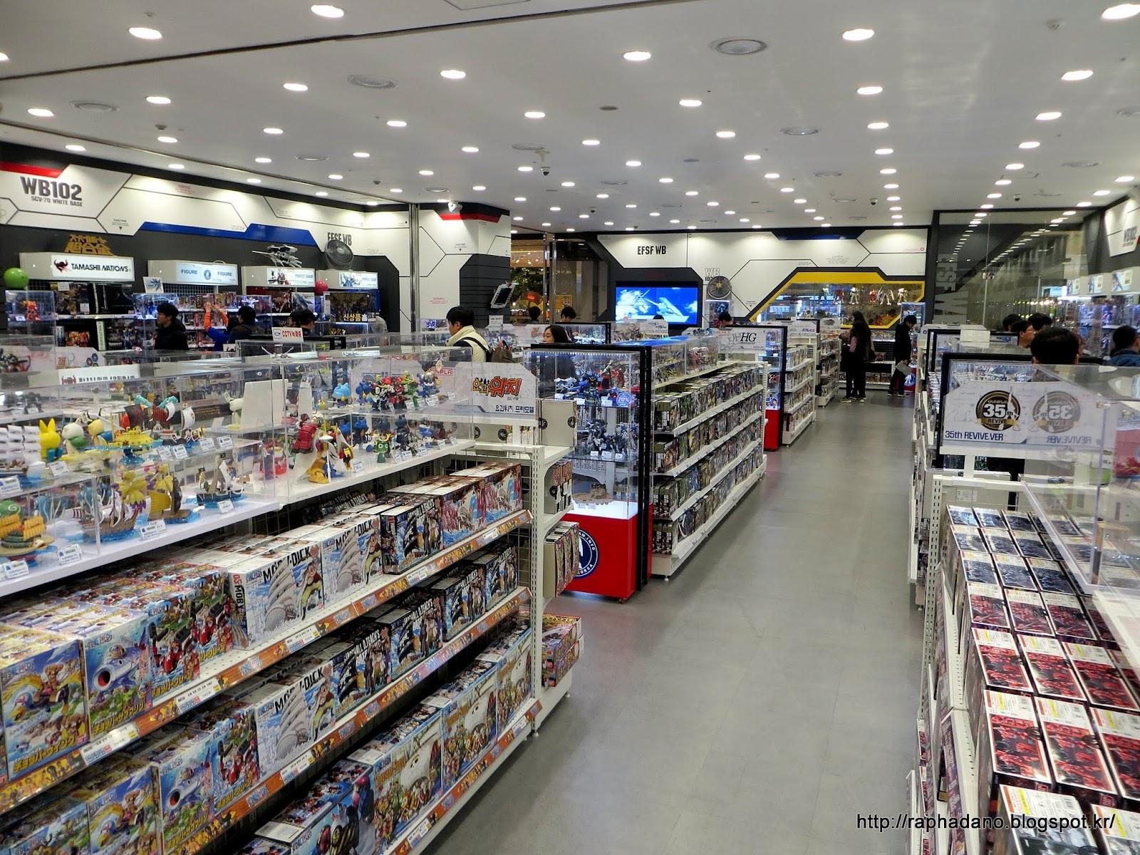 mercenary teacher gunpla stores in korea