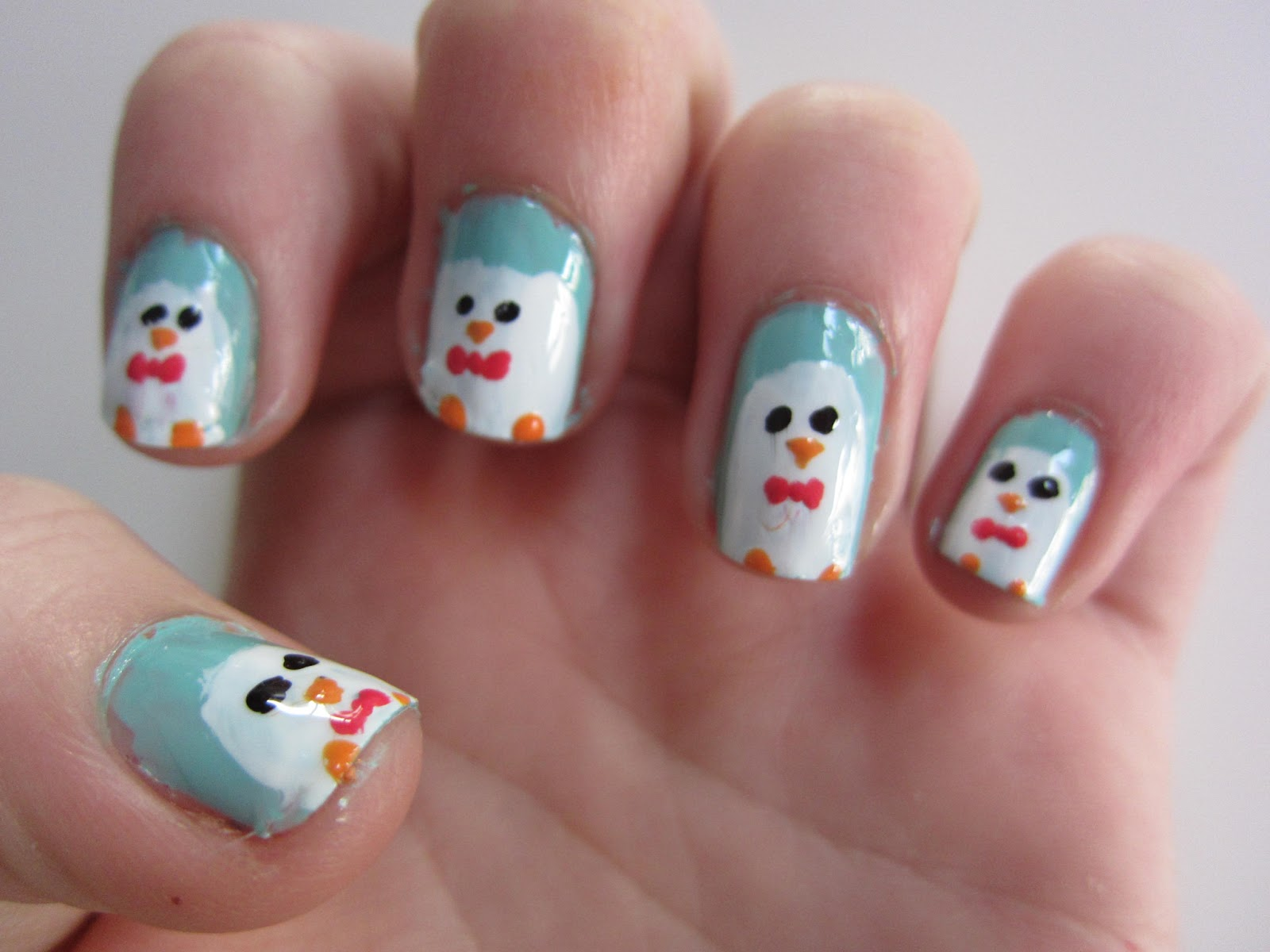 Penguin Nail Art Tutorial These Aren T Any Ordinary Penguins Have Bow Ties