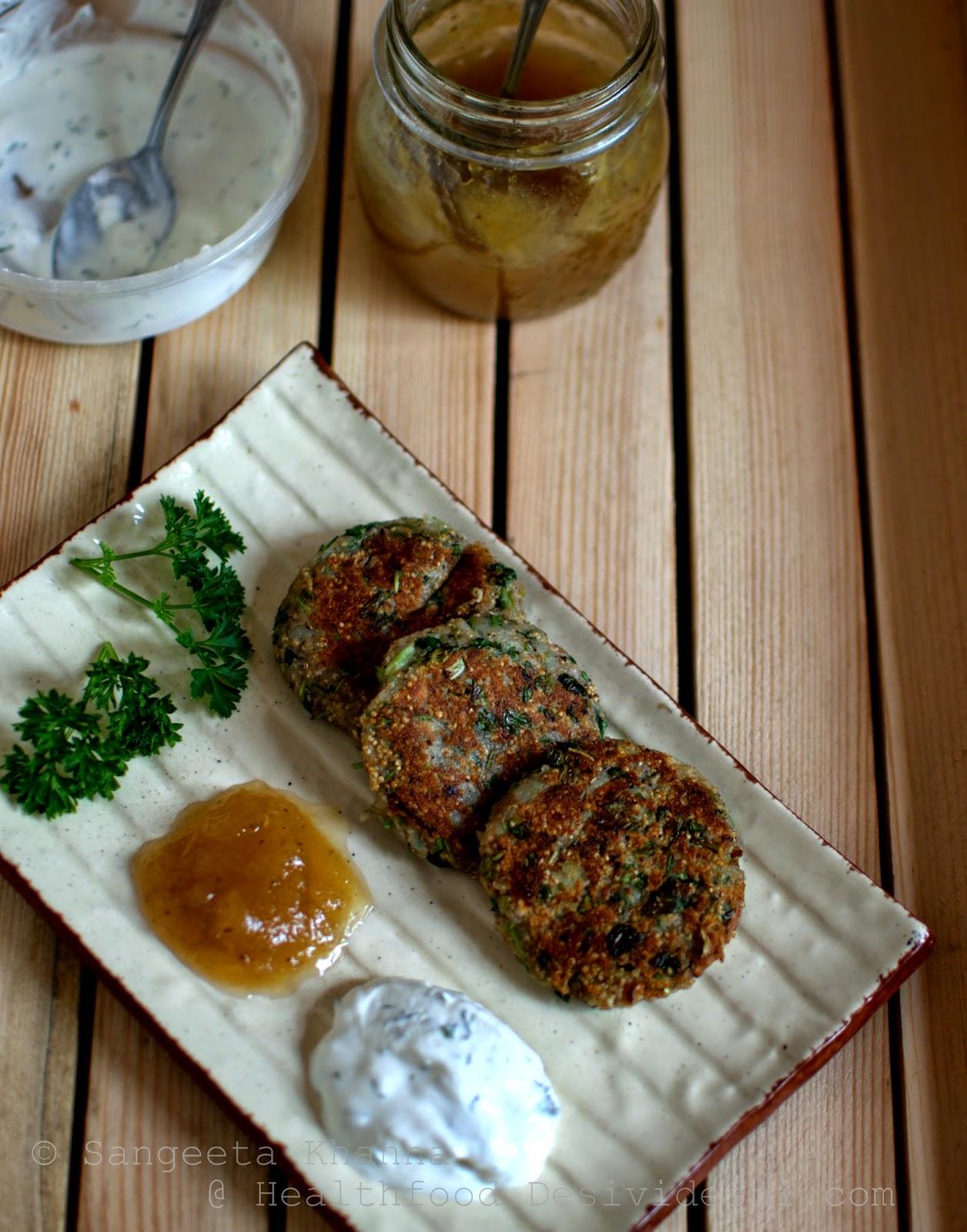popped amaranth potato walnut savoury cakes or ramdane alu ki tikki | more ways to include amaranth for everyday meals