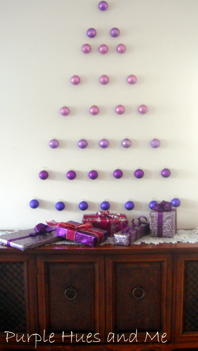 Ombre Ornament Wall Tree | 15 Christmas Tree Alternatives for Small Spaces
