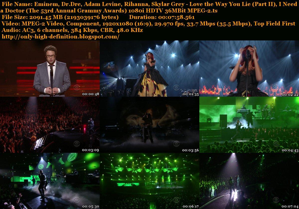 Rihanna Eminem Love The Way You Lie Live Grammys
