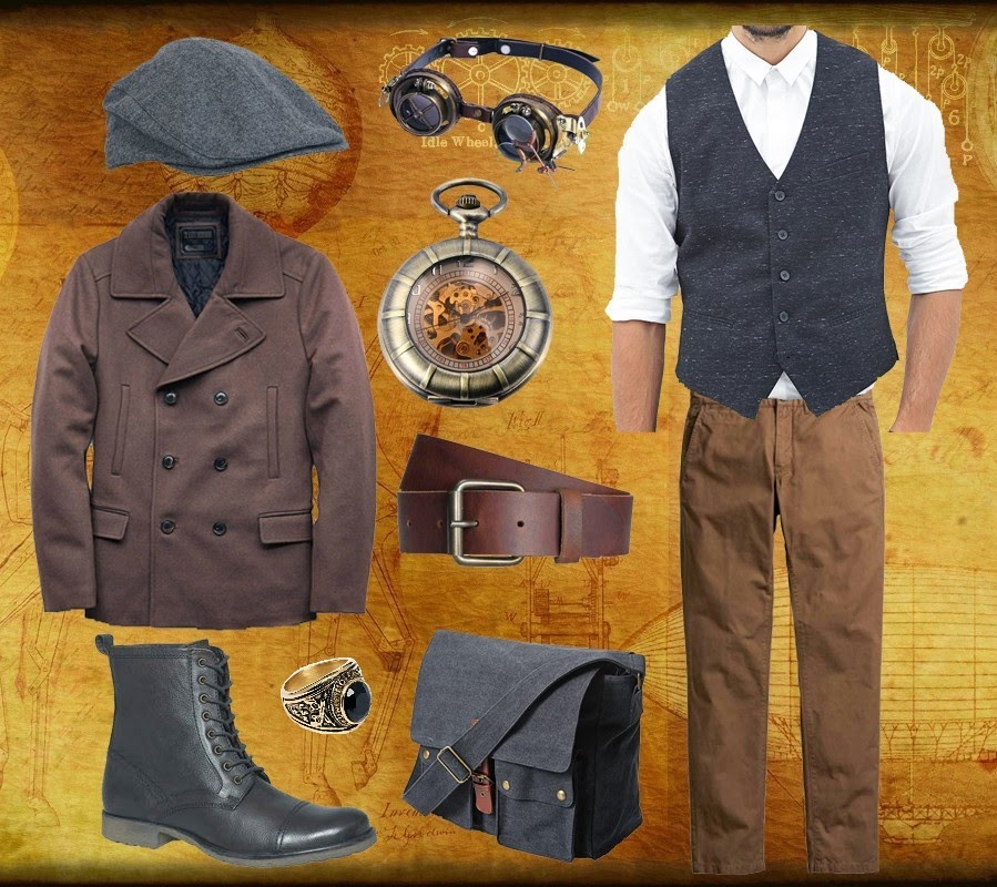steampunk men style daily homme