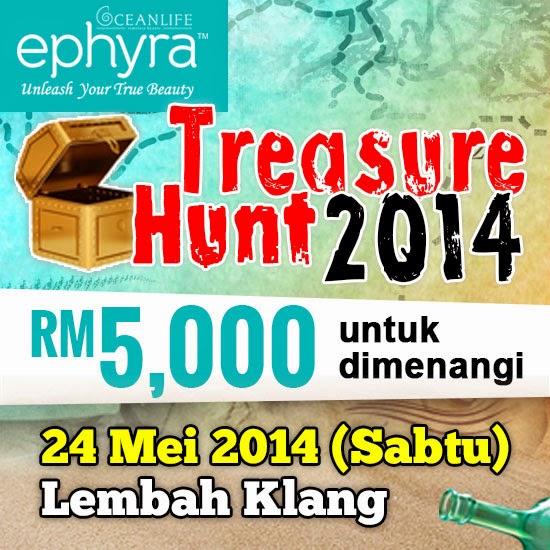 Kenangan manis bila dapat join Treasure Hunt Bersama Ephyra..