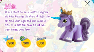 Ashia toy bio from the Filly toy site
