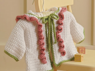 Crochet hooded sweater for baby pattern