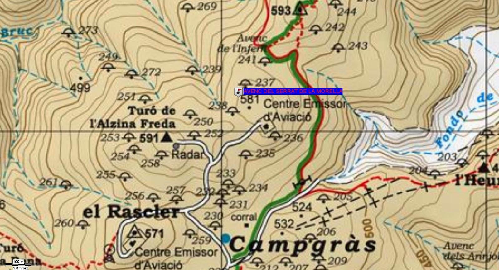 https://sites.google.com/site/espeleodivebcn/AVENC DEL SERRAT DE LA MORELLA.WPT