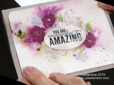 Stampin' Up! Painted Petals Card from Leadership 2015 #stampinup #occasions #soshelli