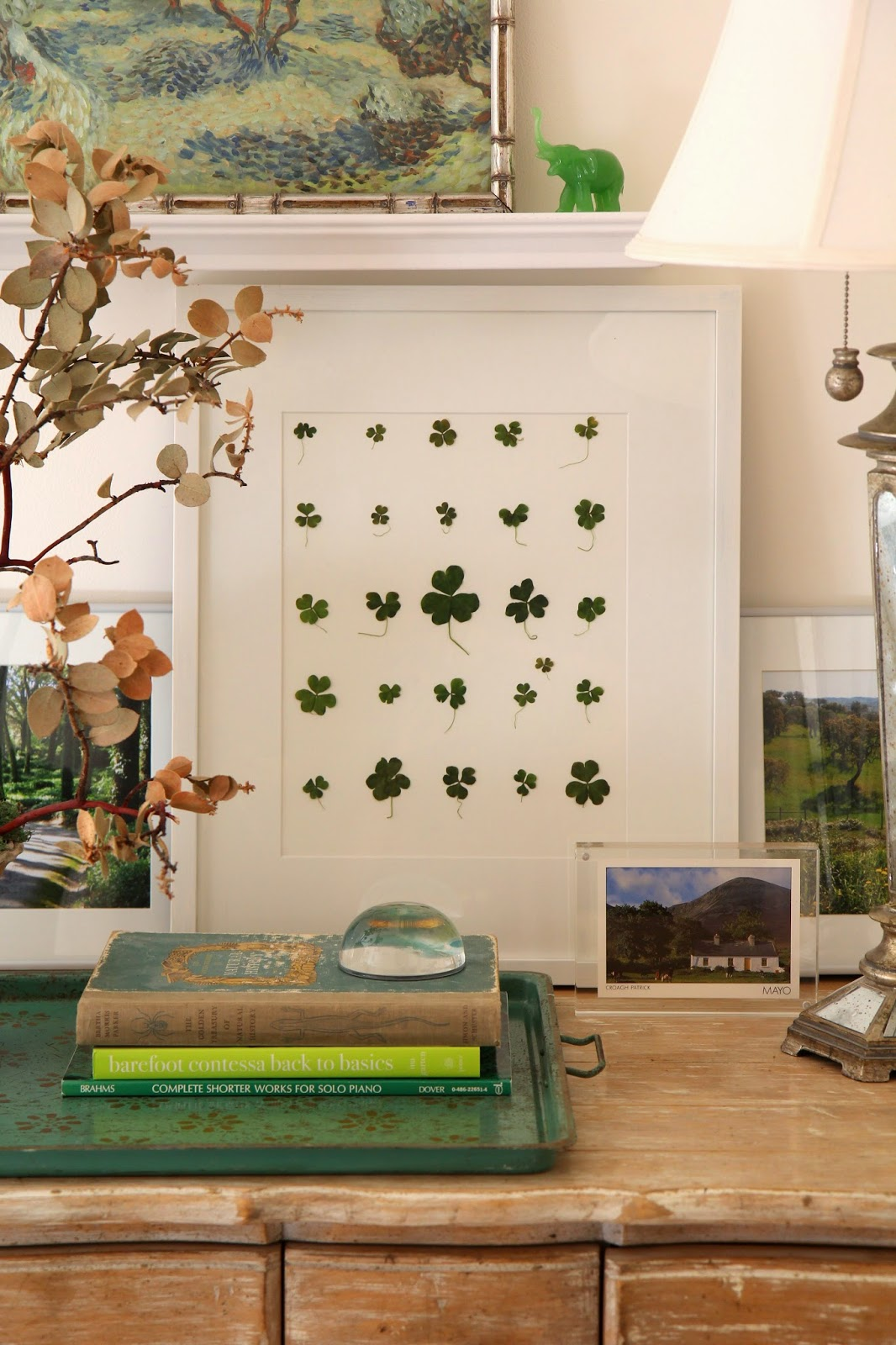 St. Patrick's Day Decor with Clover Herbarium