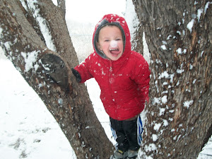 Grandson in the Valentine's Day storm