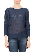 Bluza albastra din tricot fin model PF08 (Ama Fashion)
