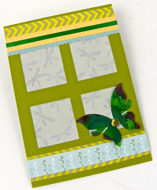 vellum windowpane butterfly handmade greeting card lisa fulmer