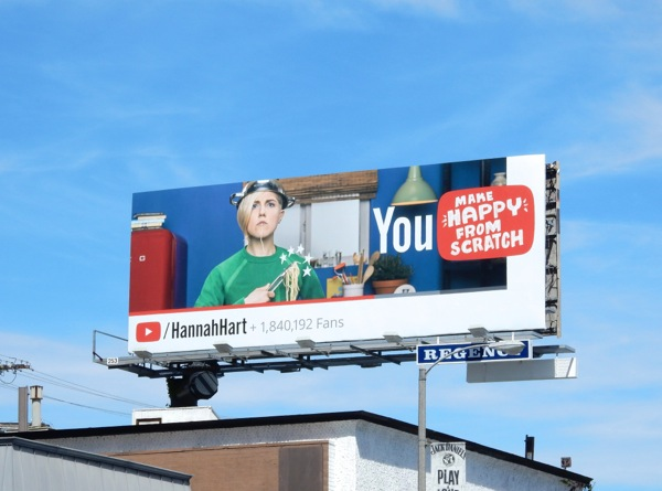 You Make Happy From Scratch YouTube billboard