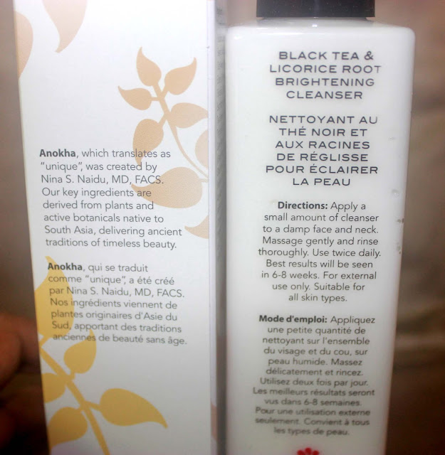 Anokha Black Tea & Licorice Root Brightening Cleanser Review And Swatch