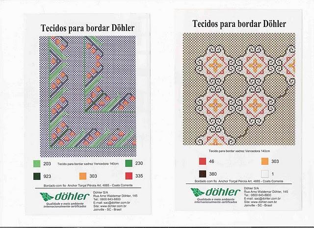 Gráfico bordado Döhler