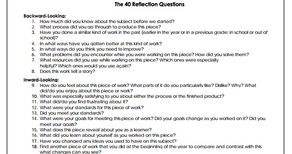 A Very Good List Featuring 40 Questions to Develop Students Reflective Thinking